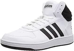 adidas Men's Hoops 2.0 Mid Basketball Shoe, White/Black/Black, 10 M US