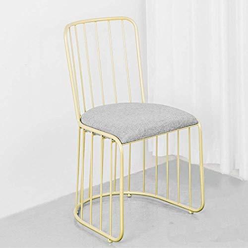 ZJN-JN Silla Sillas Cocina Contador Vestir silla de comedor silla de metal de algodón de lino resistente duradero adecuado dormitorio balcón Sala de estar en hoteles for cenar (Color: Oro, Tamaño: 49x