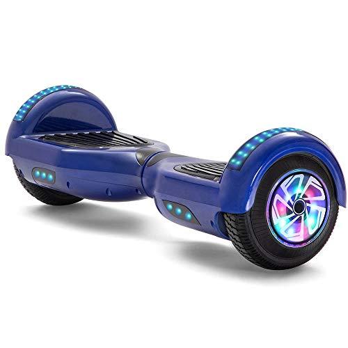Sucastle Hoverboard 6.5 Pulgadas Altavoz Bluetooth Auto-Equilibrio Scooter LED Scooters Eléctricos Dos Ruedas Monopatín Smart Balance Board Bolsa Gran Regalo para Niños (Color : Blue Motor lights)