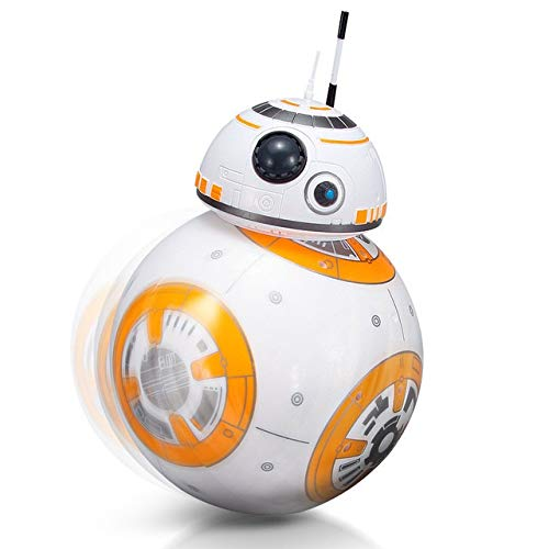 2.4G Remote Control Robot Intelligent Star Wars Upgrade RC BB8 Robot With Music Sound Action Figure Gift Toys Ball BB8 For Kids, Kleur: No originele doos (Color : No original box)