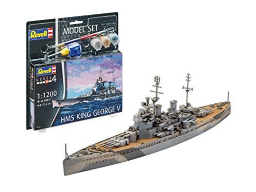 Revell REV-65161 Model Set HMS King George V Modellbausatz + Zubehör, Mehrfarbig, 1/48