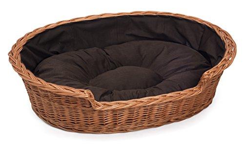 Prestige Wicker Weidenkorb für Hunde, mit Kissen, Größe XS, Beige