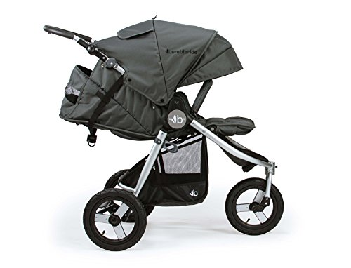 """2018 Bumbleride Indie All Terrain Stroller - Dawn Grey Mint Bumbleride """"Removable washable covers"""", Tyre pump includes"""", """"Air tyres"""", """"Wrist strap"""", """"Foldable bumper bar"""" 5"""