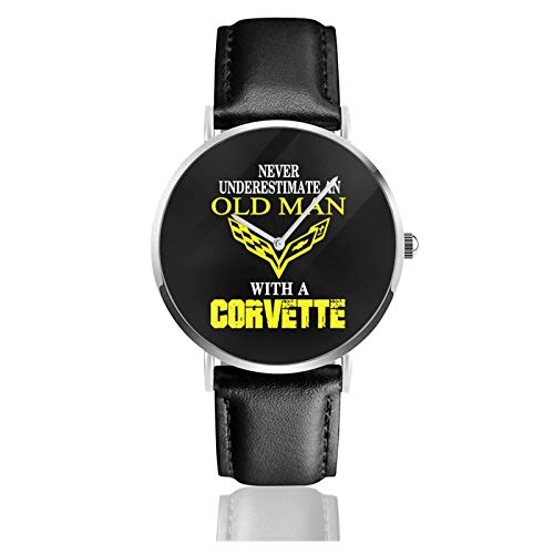 Zhaohui Unterschätzen Sie nie einen alten Mann mit einer Corvette Leder Armbanduhr Frau 2020 2020 Neueste Inspiration Design Mann