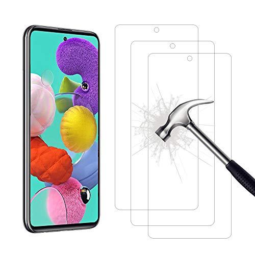 AHABIPERS Pellicola Protettiva per Samsung Galaxy A51   Samsung Galaxy M31S Vetro Temperato, 9H Durezza Ultra Resistente [Anti-Graffo Olio Impronta ]- 3 Pezzi