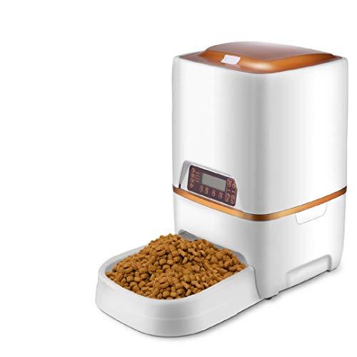 Sailnovo Dispensador Automático 6L de 4 Comidas Diarias para Mascotas