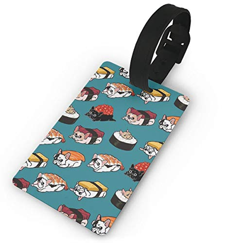 Sushi Frenchie Luggage Tag Suitcase Travel Accessories ID Cards For Luggage Baggage Identifier