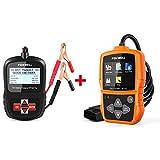 FOXWELL Car Professional Diagnostic Tool Set(12v Battery Tester BT100 Pro + OBDII Car Scanner NT201)
