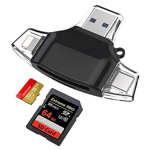 LSQ Mini-SD-Kartenleser, Multifunktions-OTG-Kartenleser USB-Verbindung Telefon-Plug-In TF/SD-Karte Mobiler Computer Universal