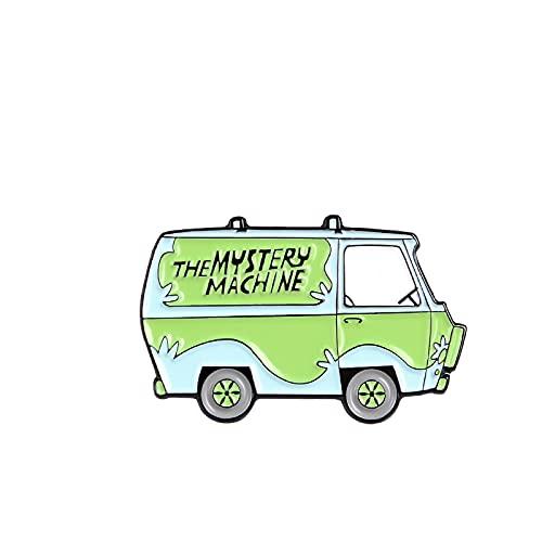 the Mystery Machine Spilla smaltata Cartone animato Scuolabus Viaggio Spilla Spilla Spilla Cartone animato Distintivo personalizzato Gioielli Regalo Amici Bambini