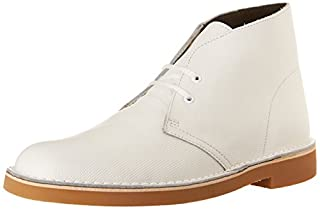 Clarks Men's Bushacre 2 Chukka Boot, White Perforated, 12 M US/46 EU (B013DICLM0) | Amazon price tracker / tracking, Amazon price history charts, Amazon price watches, Amazon price drop alerts