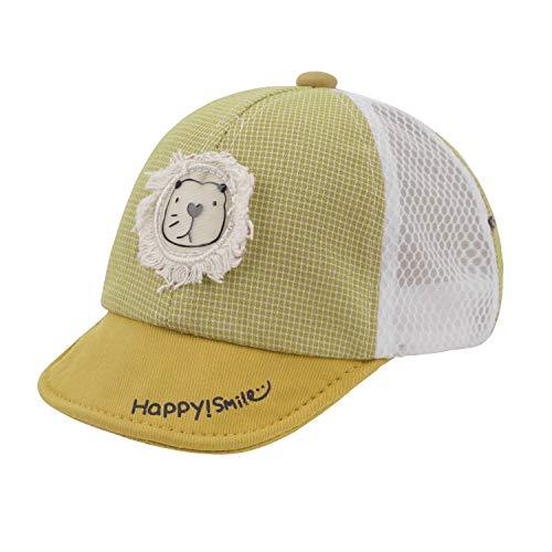 Gorra de béisbol para bebé, diseño de conejo, gorra de béisbol de malla, con visera ajustable para verano, primavera, cortavientos, cabeza para llevar de 6 a 36 meses.