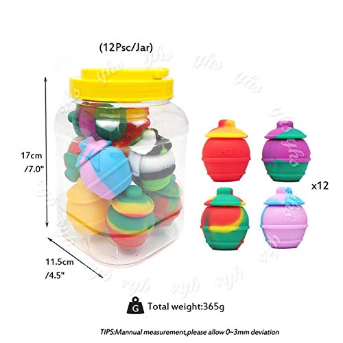 Utile 12 récipients en silicone en forme de jar à miel, tapotoir en forme de boîte à huile en forme de boîte en silicone, boîte à herbe sèche de 35 ml S'adapter à l'assaisonnement