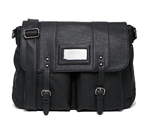French Connection Herren Messenger Bag Schultergurt Laptop Sleeve schwarz