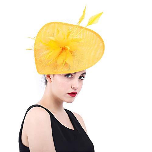Jklj Pince à Cheveux Coiffe De Plumes Chapeau de Mariage de Femmes Flower Net Feather Hair Clip Rétro