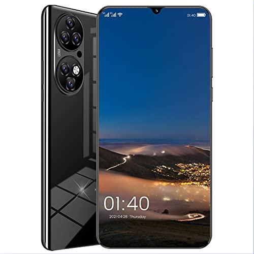 Natuogo Teléfono móvil, teléfonos Inteligentes 4G sin SIM desbloqueados, teléfono Android 11, Pantalla de Gota de Agua de 6,7 Pulgadas, identificación Facial, Huella Digital