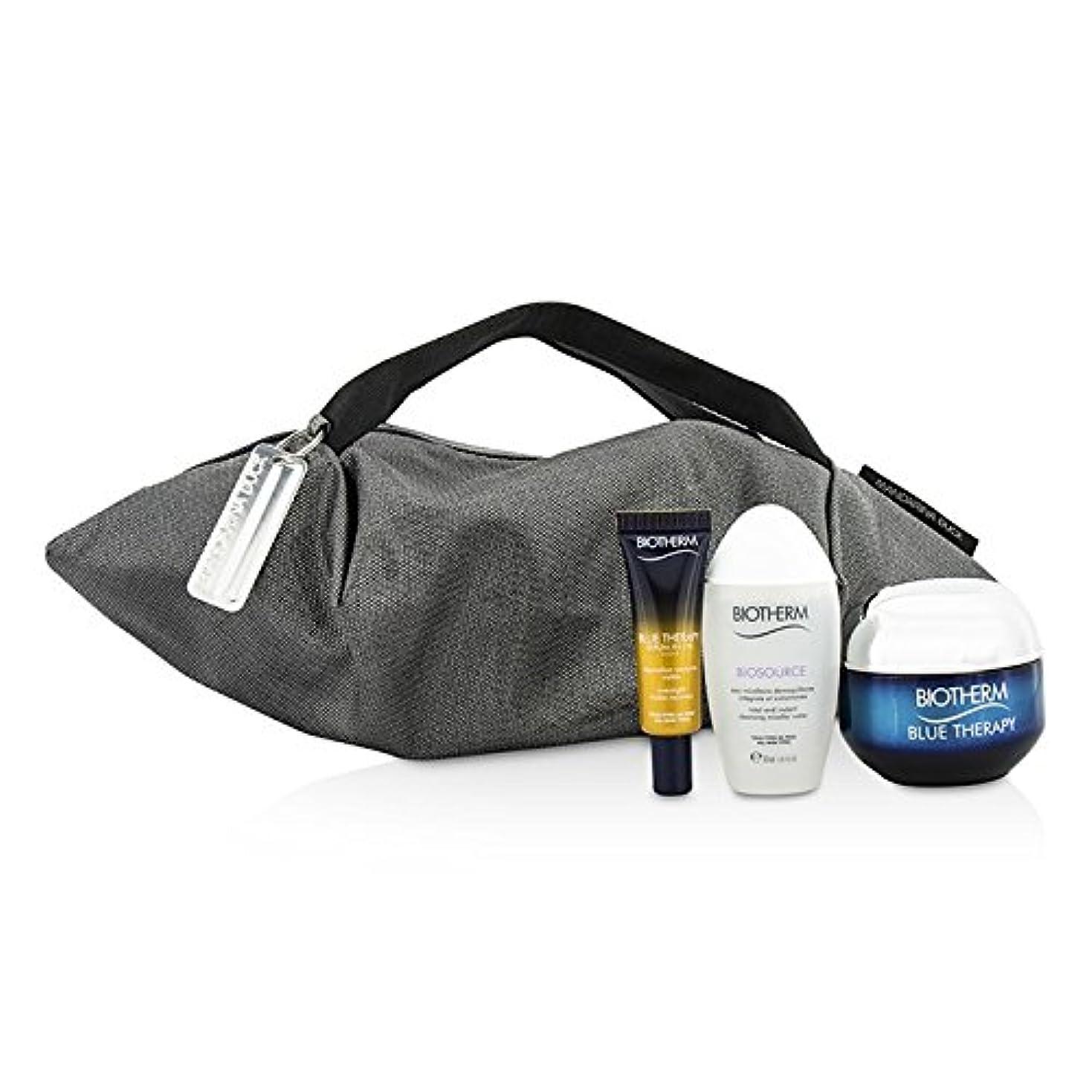 脅かすサスティーン罰するビオテルム Blue Therapy X Mandarina Duck Coffret: Cream SPF15 N/C 50ml + Serum-In-Oil 10ml + Cleansing Water 30ml + Handle Bag 3pcs+1bag並行輸入品