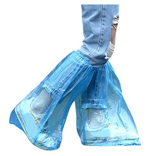 20PCS Piezas Cubrezapatos Desechables Impermeables, Grueso Cubiertas de Zapato Exterior Resistente al...