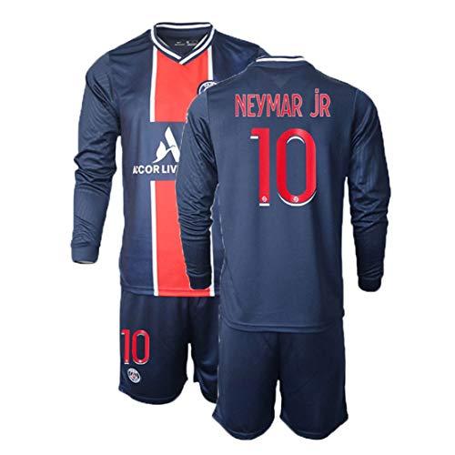 TT377 2020/21 Fußballtrikot 10.Neymar Jr / 7.mbappé Fußballtrikot Langarm + Shorts Geeignet Für Erwachsene Und Kinder