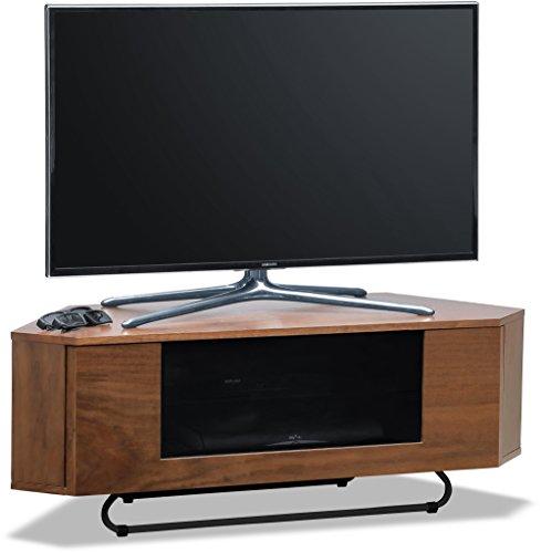 Centurion supporta Hampshire corner-friendly Gloss in vero legno impiallacciato noce fascio-thru remoto amichevole porta TV a schermo piatto cabinet 66- 127cm