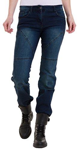 Juicy Trendz Damen Motorradrüstung Motorradhose Schutzfunktion Jeans Taschen für Knieprotektoren Denim Jeans Trousers