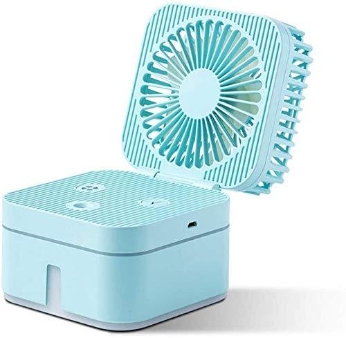 DAI QI Personal Ventilador de la bruma Mini Ventilador del Escritorio del USB, Ventilador eléctrico de la Mesa pequeña portátil de refrigeración por pulverización de Agua Ventilador del humidificador