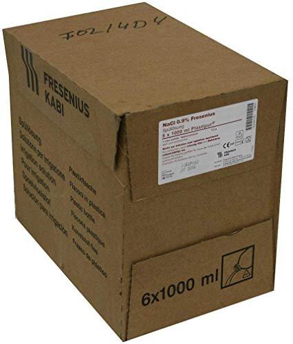 NaCl 0,9% Plastikschraubflasche, 6X1000 ml