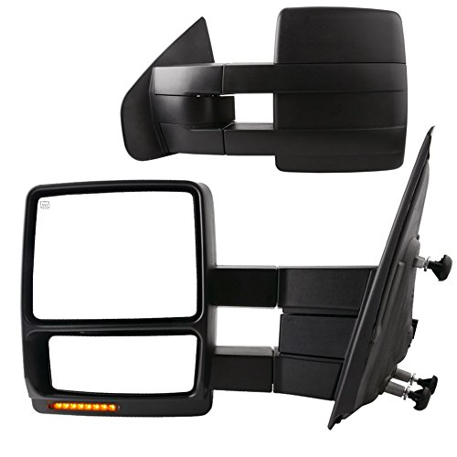 YITAMOTOR Towing Mirrors Compatible with Ford F150 Power Heated with LED Signal...