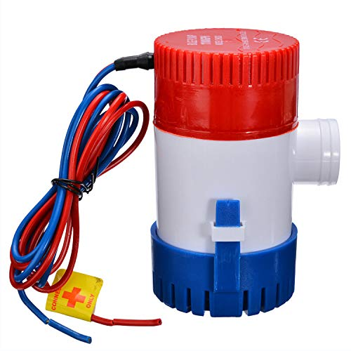 KKmoon Eléctrica Bomba de Achique, Bomba de Agua Sumergible 12v para Barcos...