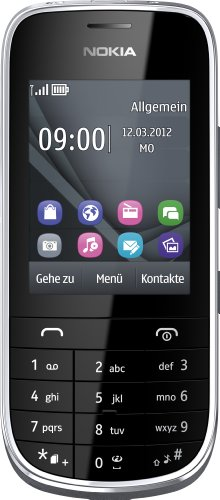 Nokia Asha 203 Handy Touch and Type (6 cm (2,4 Zoll) Bildschirm, 2 Megapixel Kamera) dunkelgrau