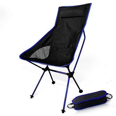 N/A XMMDD - Silla portátil con luz de luna extendida y plegada, apta para pesca, camping, senderismo, jardín, hogar, oficina