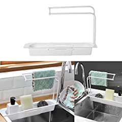 [Ventilation and Drainage]: Telescopic Sink Holder creates a healthy environment, keeps it dry, and evenly distributes the drainage holes, so that the sponge and washing tower are dry, and there is no accumulation of water, and it is more healthy tha...