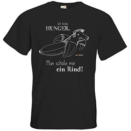 getshirts - SizzleBrothers Merchandise Shop - T-Shirt - SizzleBrothers - Grillen - Hunger Rind schälen - Black 4XL