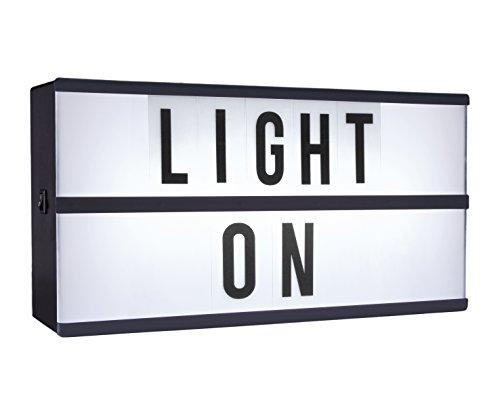 MIK funshopping Light Box Boîte Lumineuse à LED avec 85 Lettres et Symboles