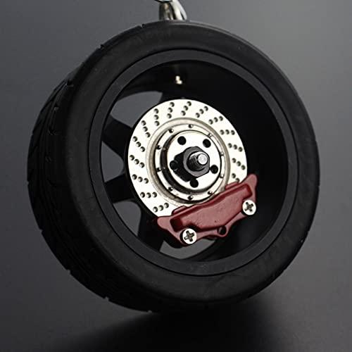 TOBENOI Auto decoración Colgante Llavero de Rueda de Coche Espejo retrovisor de Coche Colgante de Adorno Llavero Colgante