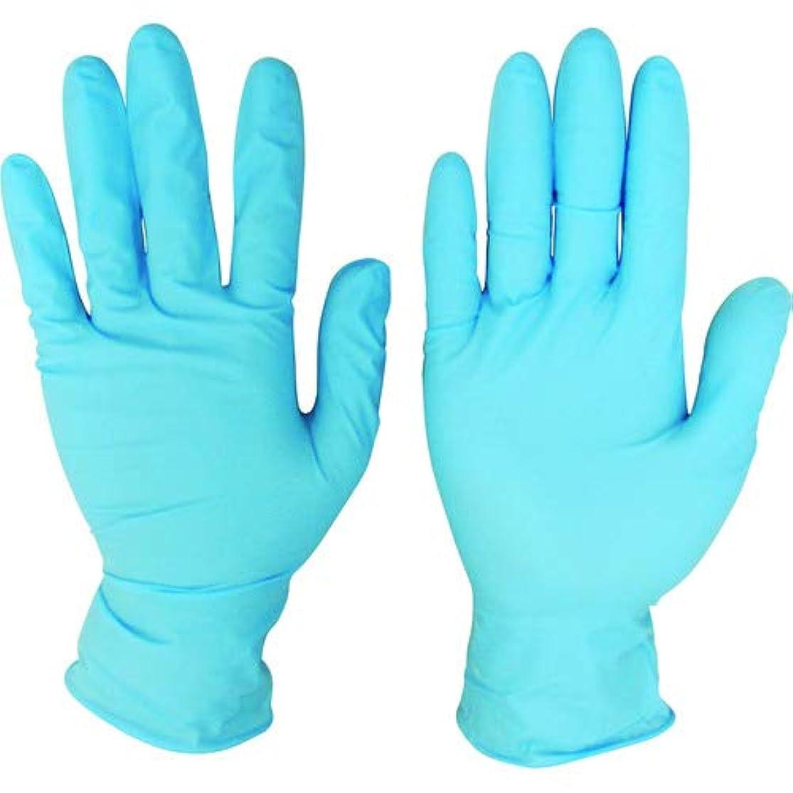 役に立つ日焼け照らすニトリルディスポ手袋 青 No.210 パウダーフリー(100枚入)M