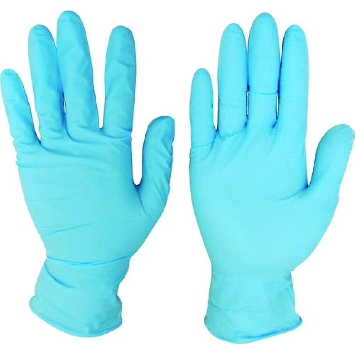 褐色宇宙の吐き出すニトリルディスポ手袋 青 No.210 パウダーフリー(100枚入)L