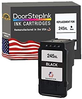 DoorStepInk Remanufactured in The USA Ink Cartridge Replacements for Canon PG-245XL 245 XL 243XL 243 XL Black for Pixma TR...