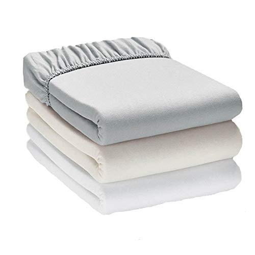 Queens Land Home Non Iron Wrinkle Free 100% Cotton Jersey Fitted Sheets...