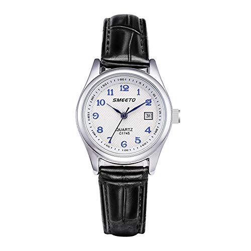 Relojes Pulsera Calendario Números Romanos Pequeño Analógico Relojes Mujer Cuero Elegante