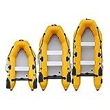 B/H PVC Engrosado Bote Inflable de,Kayak de Barco de Asalto, Bote Inflable inflable-330 * 133cm_Fondo de aleación de Aluminio,Bote Inflable de Bomba de Mano