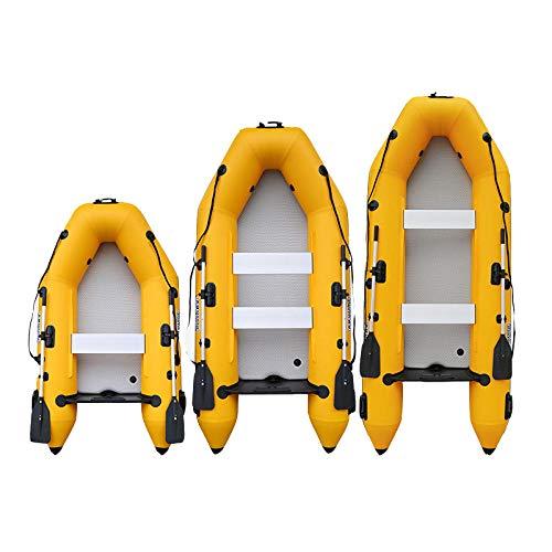B/H Bote Inflable de Pesca Engrosado,Barco de Asalto Kayak, Bote Inflable inflable-280 * 133cm_Fondo Cepillado + 4 Golpes 4 Caballos de Fuerza,lancha motora Kayak