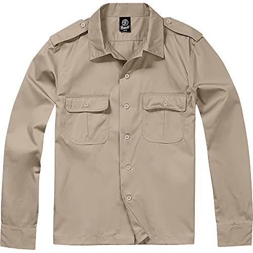 Brandit US Hemd Langarm Beige - XL