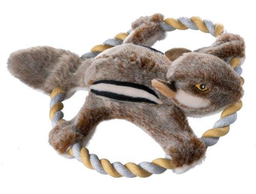 HUNTER WILDLIFE TRAINING SQUIRREL Hundespielzeug, naturgetreu, Plüschspielzeug mit Tau, Eichhörnchen, M