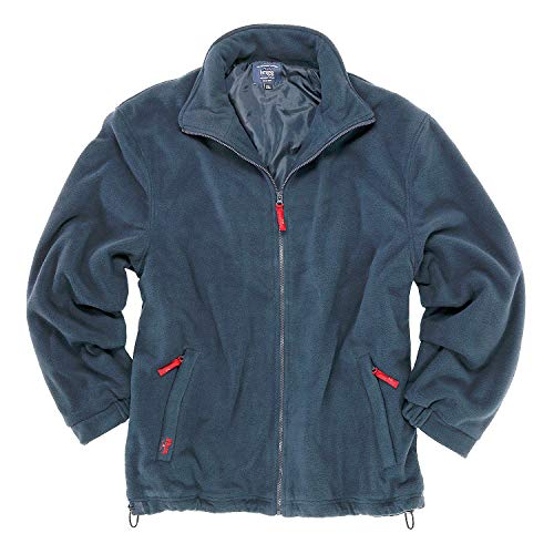 Brigg Kälte-schützende Fleece-Jacke der Marke gefüttert - blau bis 14XL, Größe:8XL