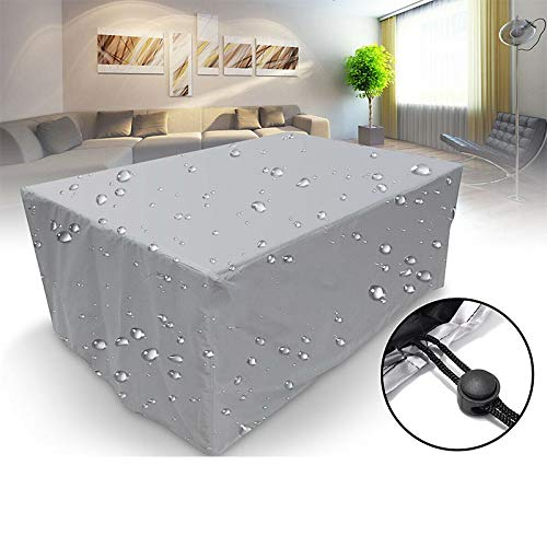 no-branded Tarp Tarpaulin Outdoor Patio Garden Furniture Covers Rain Snow Chair Covers for Sofa Table Chair Dust Proof Waterproof Cover Plant Covers MDYHJDHYQ (Color : Gray, Size : 242X162X100CM)