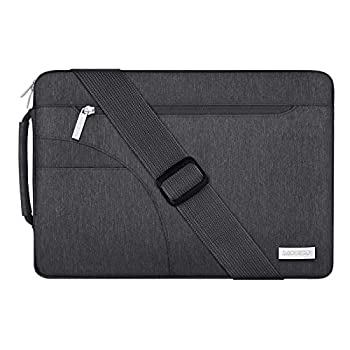 MOSISO Laptop Shoulder Bag Compatible with MacBook Pro/Air 13 inch 13-13.3 inch Notebook Computer Polyester Briefcase Sleeve with Side Handle Space Gray
