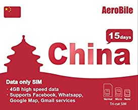 China Prepaid SIM card China Mobile 4GB/15-Day Prepaid Tourist Data SIM Roaming Saver