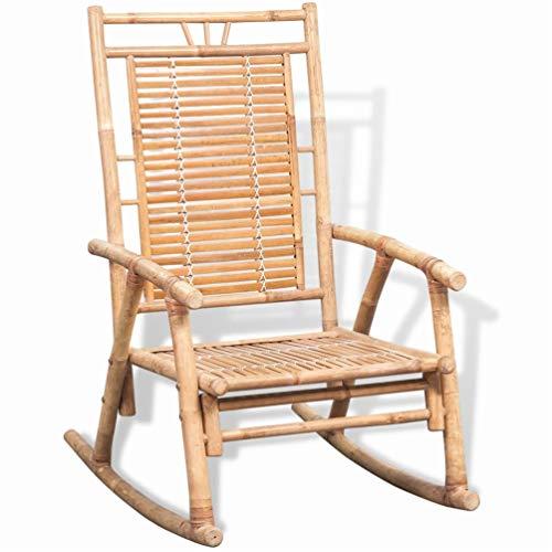 BIGTO Garden Rocking Chair Bamboo Garden Chair for Adults 66 x 86 x 105 cm