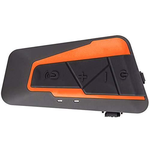 ERGGQAQ Casco Motocicleta Resistente Agua Auriculares Bluetooth,Intercomunicador Interfono,para 3 o 4 pasajeros y Audio 2.5 mm,Walkie Talkie Reproductor MP3 GPS - Manos Libres y Radio FM,V4